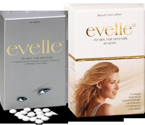 Æsker med henholdsvis 60 og 180 tabletter Evelle